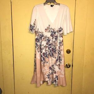 Kaari Blue Petites Wrap Dress
